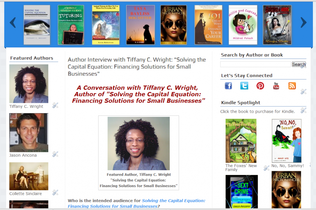 My feature on Author and Book Buzz!