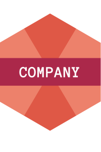 "The word ""Company"" in a hexagon"